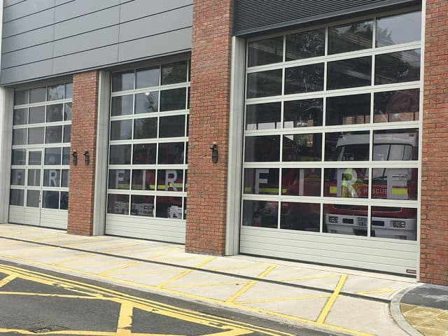 Fire Station White Door Fitting