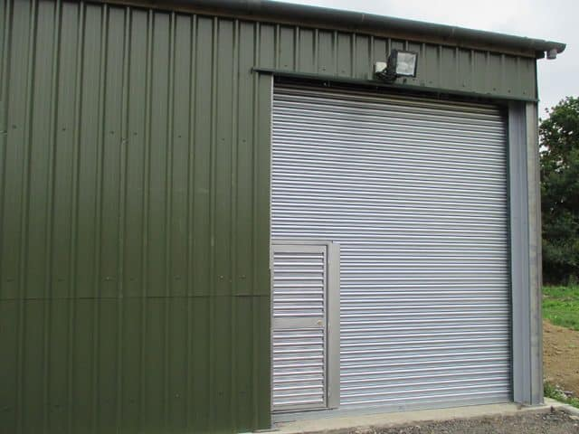 Roller Shutters Newly Installed On Large Structure