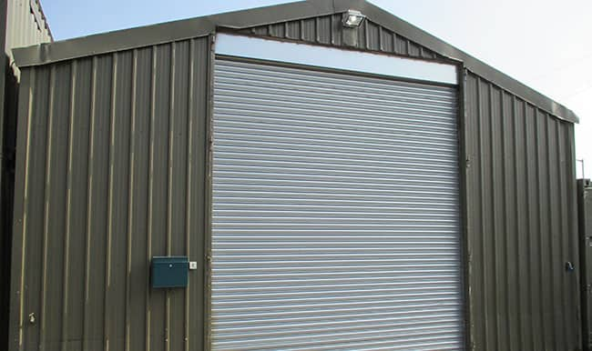 Roller Shutter Installation On Storage Structure