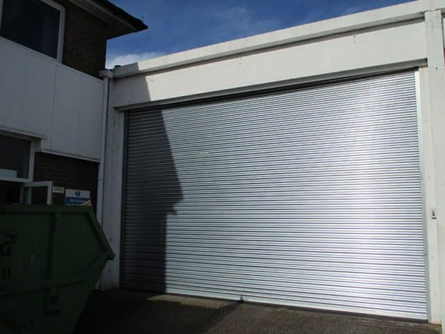 Roller Shutters Installed On White Building